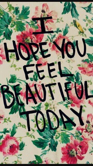 Fondo de flores vintage * I hope you feel beautiful today ( fondos para tu smartphone )