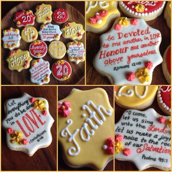 Church anniversary scripture sugar cookies
