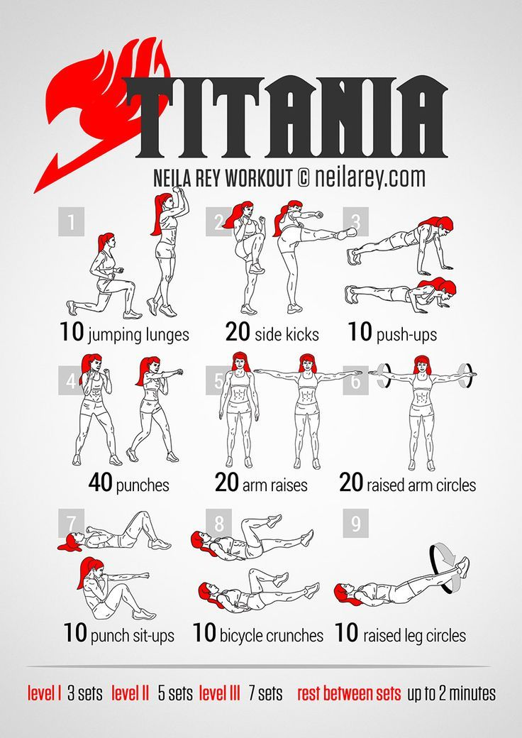 Titania Full Body Workout. Hell yeah Fairy Tail!!