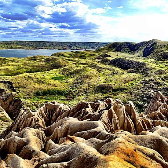 Sandcastles au natural near Beechy, Saskatchewan.  Photo by Instagrammer bgoges: http://instagram.com/p/oaBT3sDsUU/