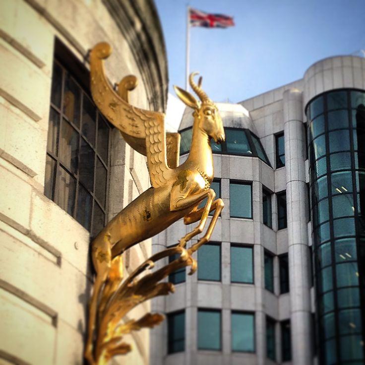 London - South African Embassy - Springbuck detail