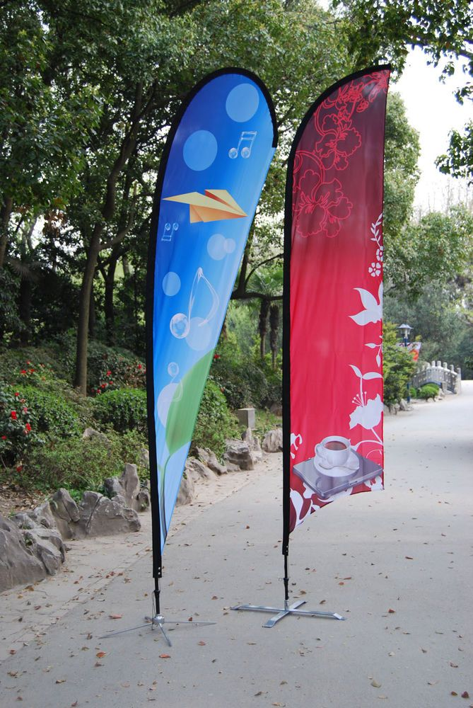 Custom Printed - Feather Flag - Sail Flying Banner - Outdoor Advertising Sign
