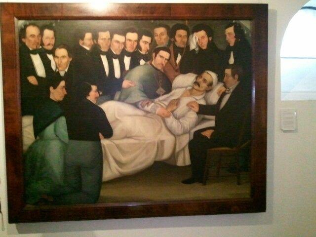 At a museum in Bogota