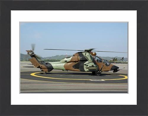 Media Storehouse Framed Print of A Eurocopter Tigre attack helicopter of the French Army FRAMED PRINT. 22x18 inch (58x48cm) Framed Print with Black Ash Effect Frame, White Mount. Artwork depicting A Eurocopter Tigre attack helicopter of the French Army taken on the base at Le Luc, France. http://www.comparestoreprices.co.uk/december-2016-5/media-storehouse-framed-print-of-a-eurocopter-tigre-attack-helicopter-of-the-french-army.asp