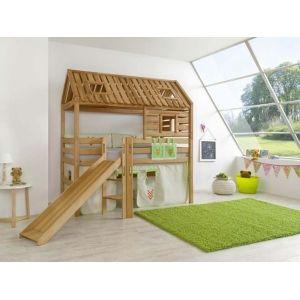 lit pour jouer avec toboggan d coration chambre d 39 enfant. Black Bedroom Furniture Sets. Home Design Ideas
