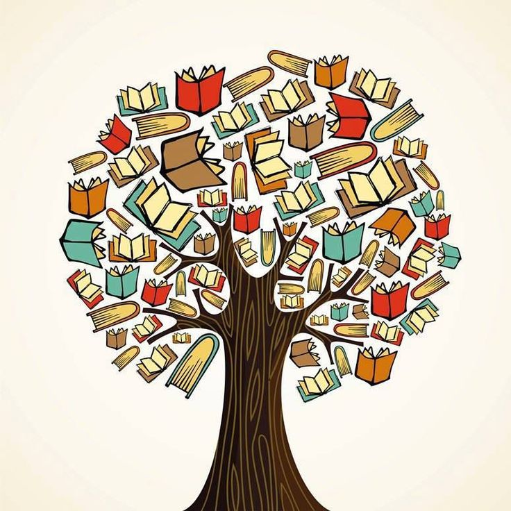 Diversity knowledge book tree Vector Illustration