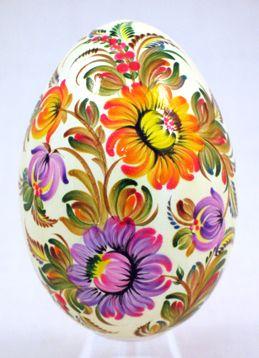 Velká kraslice * ručně malovaný slovácký vzor * Česko ♥