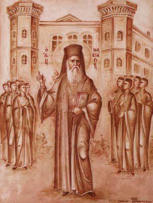 (ΣυνομιλίαΑγίου Νεκταρίου) Βιβλίο:«Ψίθυροι των αγγέλων» Ηλίας ΛιάμηςΕκδ. Ακρίτας, Αθήνα 2006 Βγαίνω στην αυλή. Πολύς ο θόρυβος, οι συνομιλίες, οι φωνές