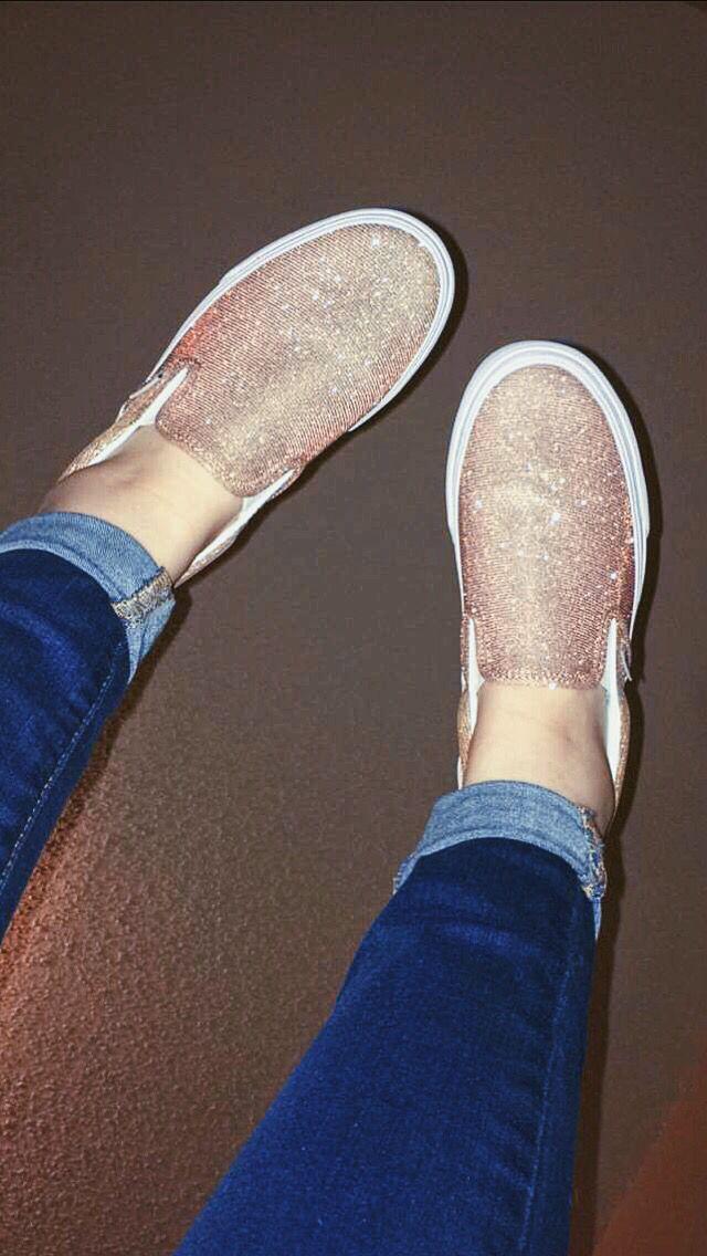 Glitter Slip On Vans