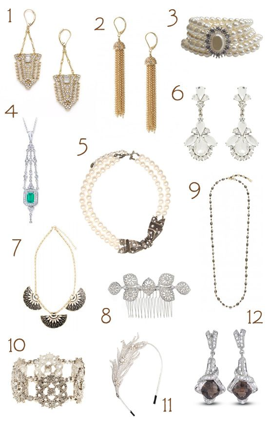 Great Gatsby Inspired Wedding Accessories