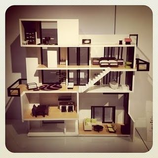 urban dollhouse | urban modern doll house.