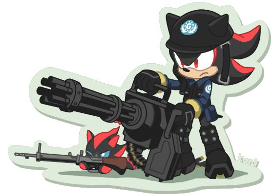 Shadow with a gatlin gun! heck yea!