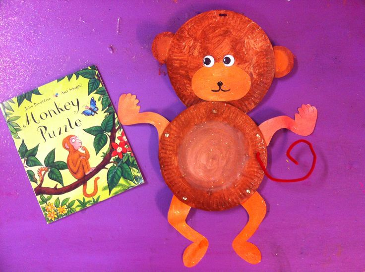 Monkey Puzzle by Julia Donaldson - monkey craft