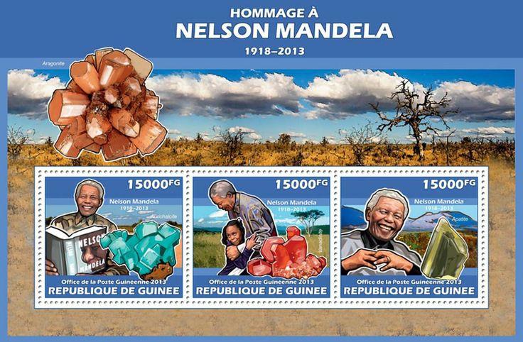 GU 13615 aTribute to Nelson Mandela, (Aurichalcite, Vanadinite, Apatite).