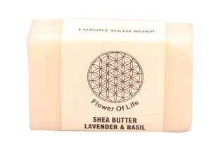 Shea Butter Lavender Basil Soap | Flower Of Life