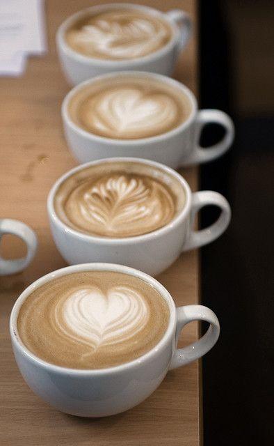 Latte Art Latte Kunst                                                    Coffee Koffie Kaffee Cafe Caffe