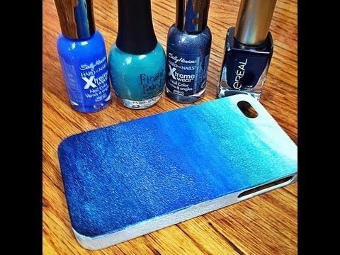 DIY: Ombre Phone Case! Made with Nail Polish! and other ideas to personalise your phone