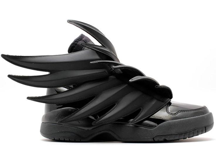 """Adidas Jeremy scott wings 3.0 """"batman"""" GS - Chaussure Adidas Pas Cher Pour Femme/Enfant cblack d66468"""