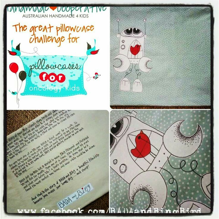 A story pillow from BADA and Bing, for 'pillowcases for oncology kids'