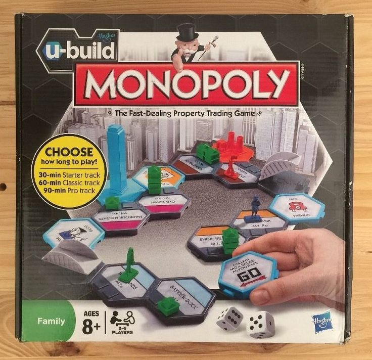 Hasbro U-Build Monopoly Game: The Family Fast Dealing Property Trading Game