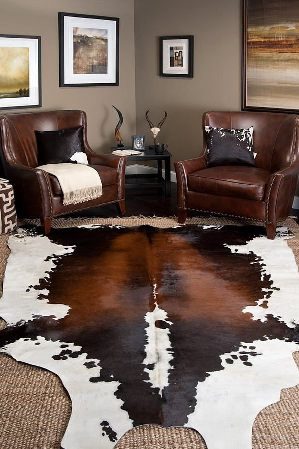 Best 25 cowhide rug decor ideas on pinterest cowhide rugs layering rugs and cowhide decor - Western decor ideas for living room ...