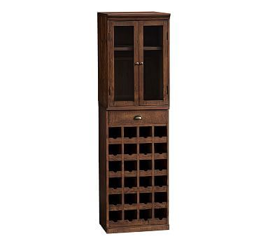Wallace Reclaimed Wood Wine Tower #potterybarn