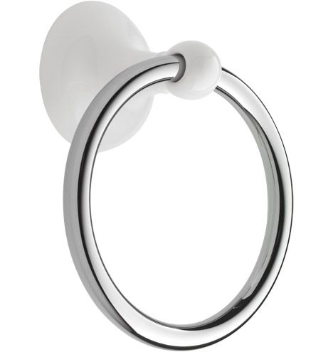 Dunbar Towel Ring White Classic Porcelain Rejuvenation