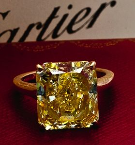 Cartier. Yellow diamond yes please