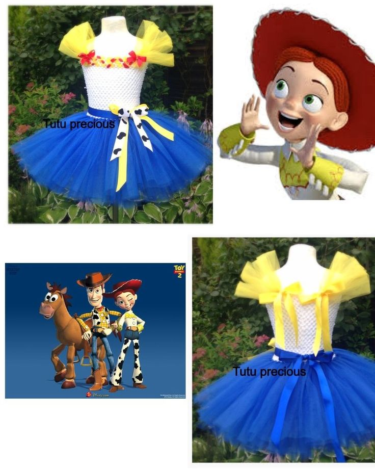 Jessie Cowgirl Toy Story inspired tutu dress - dressing up costume