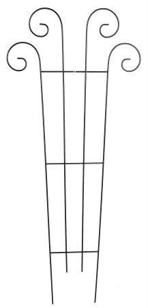 Gardman R564 60-Inch by 27-Inch Metal Scroll Trellis by Gardman. $37.49. Use two or more together to form a screen. Can be pushed directly into the ground. Supports large vines, climbing plants and flowers. Insert into a planter or use as a stand alone trellis. Strong weather resistant coated steel construction. Gardman usa r564 60-inch by 27-inch metal scroll trellis