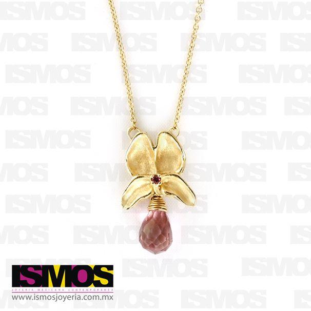 ISMOS Joyería: Dije de plata con chapa de oro // ISMOS Jewellery: gold plated necklace