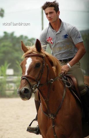 sexy man on horse