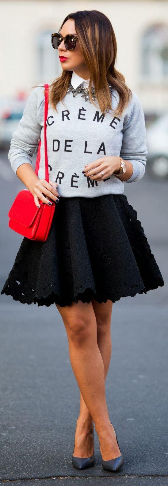 Full skirt + sweatshirt