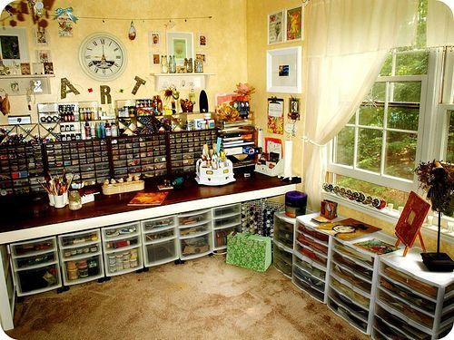 17 beste afbeeldingen over inrichting hobbykamer op pinterest potten ambachtelijke ruimte en - Office opslag tip ...