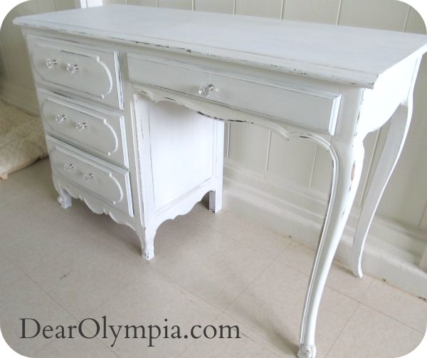 Antique Shabby Chic Desk. Fusion Mineral Paint / Antique Shabby Chic Desk | desk | antique | refinished furniture| shabby chic furniture paint | restoration | marble | distressed | dark wax