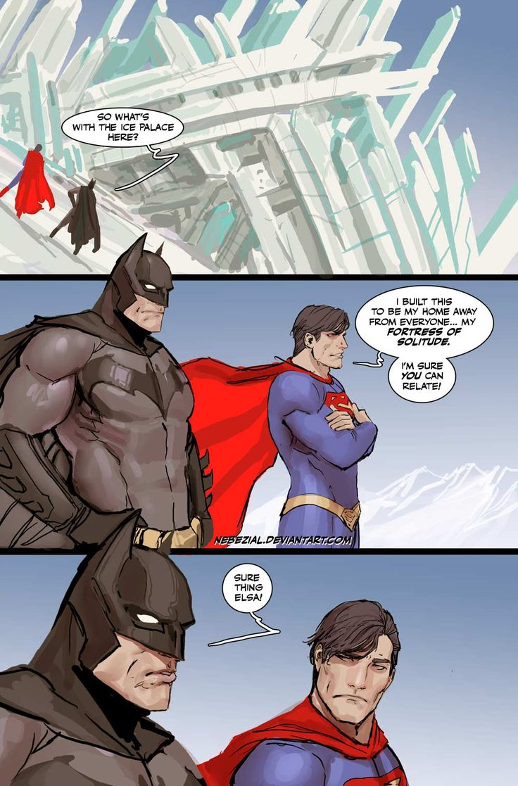 Superman Batman Elsa funny