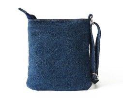 Dámska riflová taška v podobe jeanov so zipsom. Taška obsahuje nastaviteľný popruh z rifloviny. Taška je v štýlovom dizajne v podobe riflý (jeanov)3