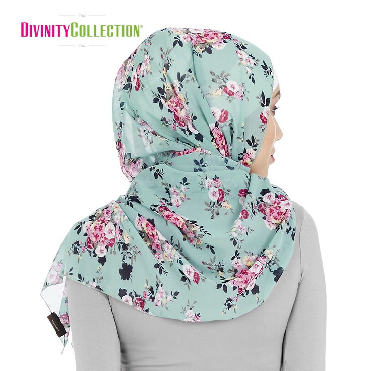 Vintage Light Blue and Pink Floral Hijab. http://www.divinitycollection.com.au/eid/eid-hijabs