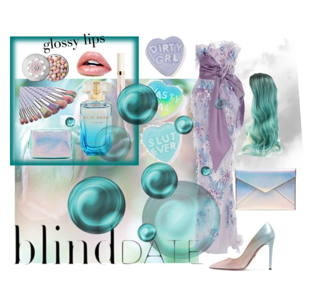 """""""Blind Date 🌫💞"""" by catalina-joy on Polyvore featuring Prada, Rebecca Minkoff, Marchesa, Guerlain, Dirty Grl and Forever 21"""