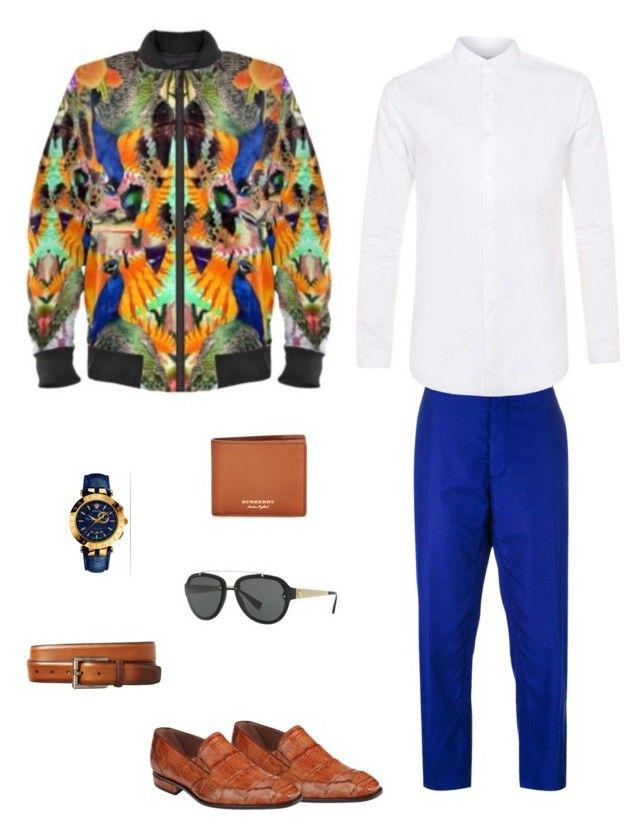 """""""Legacy"""" jacket ootd by guutanii on Polyvore featuring polyvore, Topman, Haider Ackermann, Mauri, Versace, Burberry, Magnanni, men's fashion, menswear and clothing"""