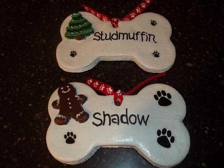 Dog Christmas Ornaments: Make DIY Christmas ornaments for your dog, or to give as dog gifts for Christmas.