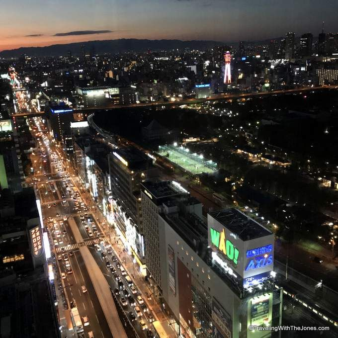 night time view from room #4723 -Marriott Osaka Miyako hotel