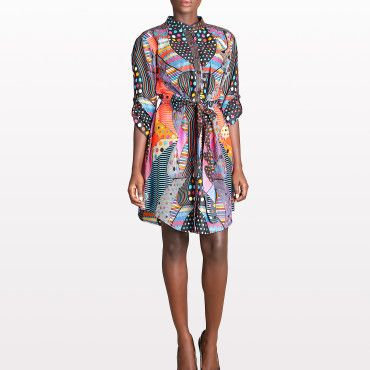 Vlisco Domino Shirtdress #highfashion #luxurystyle #africanstyle