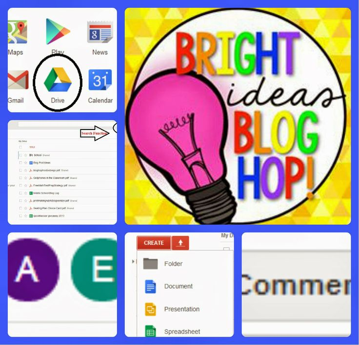 Bright Ideas Blog Hop - Using Google Drive (Docs) in the Classroom