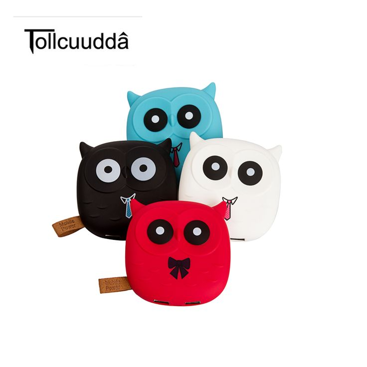 Tollcuudda 18650 Power Bank Cute Cartoon Owl Portable External Battery Pack Backup Charger Battery Dual USB Powerbank for Iphone #Affiliate