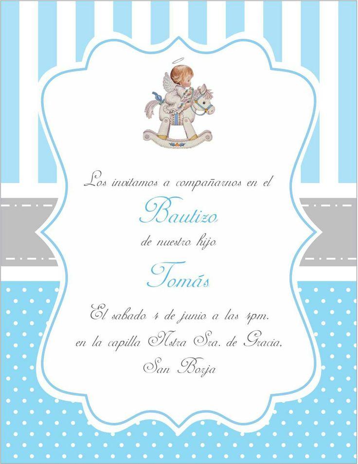 Invitacion bautizo