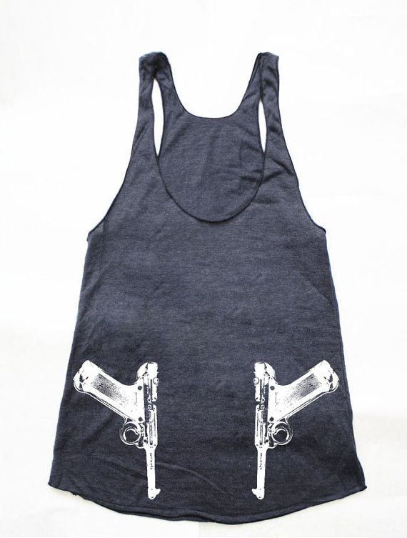 Vintage Pistol Side Guns American Apparel Womens by rabbitandeye, $24.00