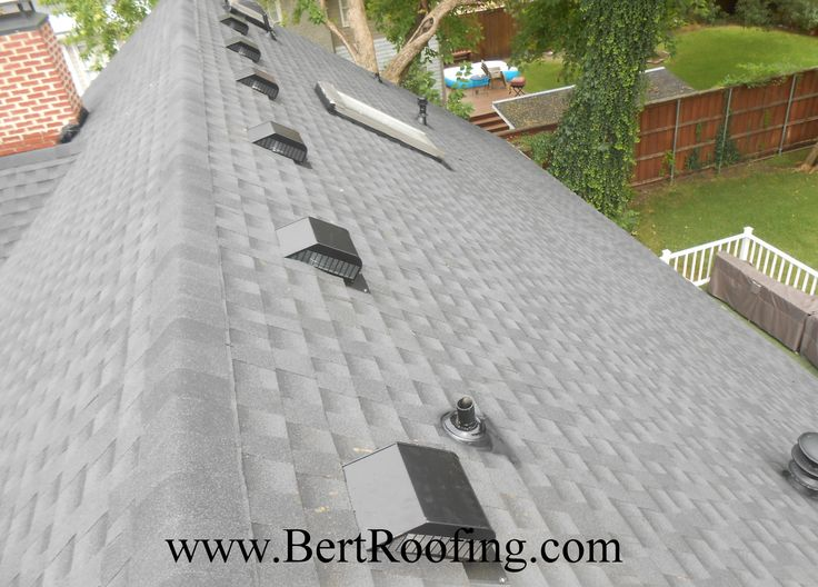 GAF Timberline HD | Composition Shingle, Color Charcoal. Air Vent RVG 55 Low  Profile Color Black | Installed By Bert Roofing Inc Of Dallas In Dallas On  July ...