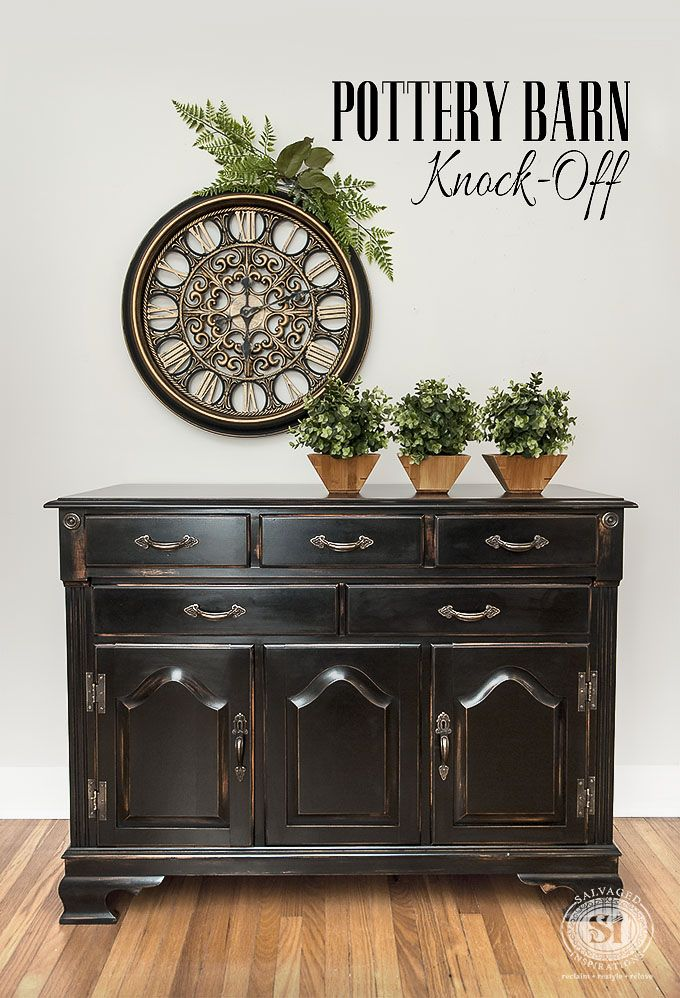 5 Tips on How To Create a Distressed Black Pottery Barn Finish on Dated Furniture! | diy-pottery-barn-black-furniture-finish-txt