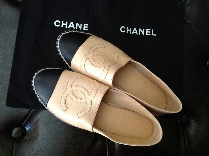 in love with this channel espadrille...beige/black...